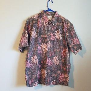 Men's Reyn Spooner half button shirt, XXL